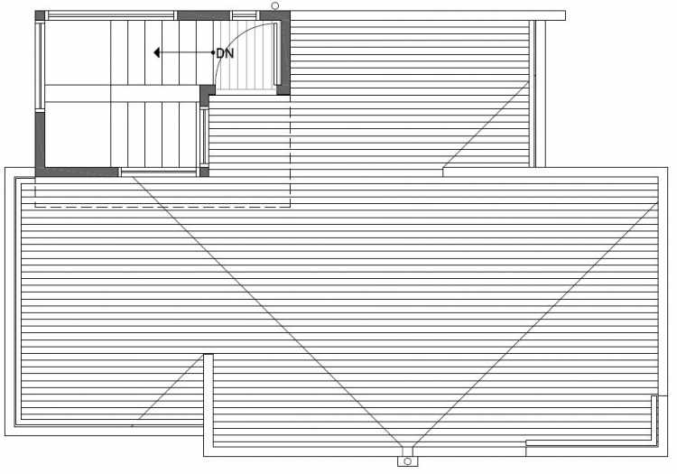 Roof Deck Floor Plan of 2416 NW 64th St in Ballard