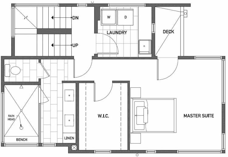 Second Floor Plan of 2416 NW 64th St in Ballard
