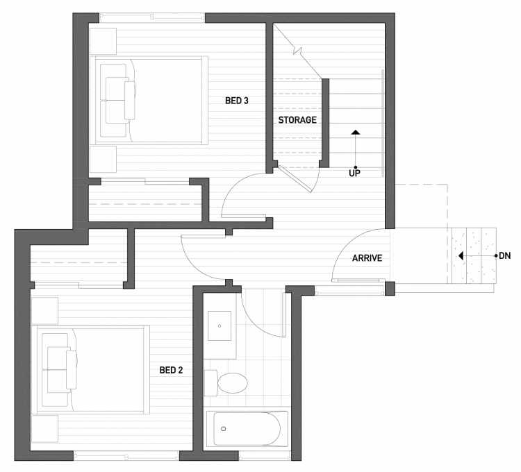 First Floor Plan of 2430 Boyer Ave E of the Baymont Townhomes