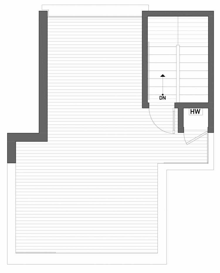 Roof Deck Floor Plan of 2430 Boyer Ave E of the Baymont Townhomes