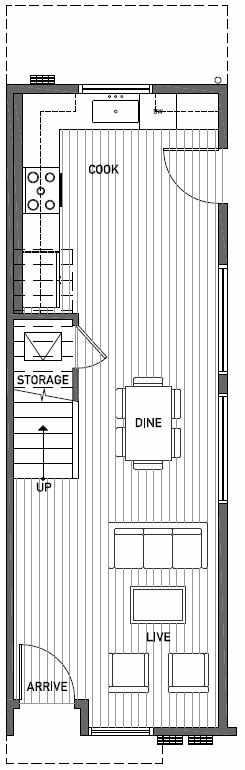 First Floor Plan of 2444A NW 64th St in Ballard
