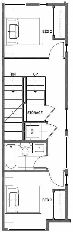 Second Floor Plan of 2444A NW 64th St in Ballard
