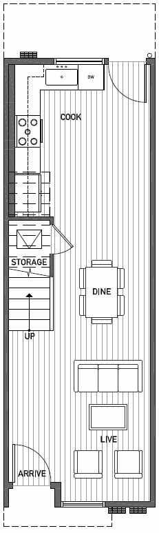 First Floor Plan of 2444B NW 64th St in Ballard