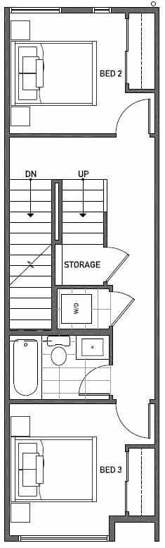 Second Floor Plan of 2444B NW 64th St in Ballard