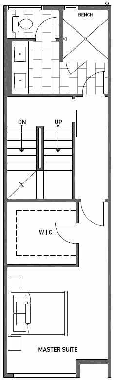 Third Floor Plan of 2444B NW 64th St in Ballard
