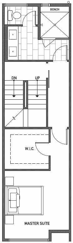 Third Floor Plan of 2444B NW 64th St in Ballard