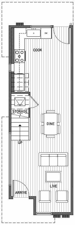 First Floor Plan of 2444C NW 64th St in Ballard