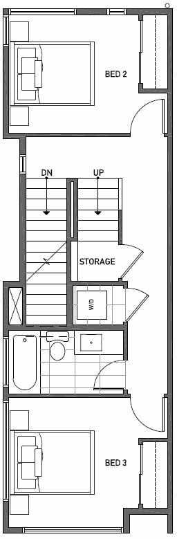 Second Floor Plan of 2444C NW 64th St in Ballard