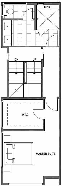 Third Floor Plan of 2444C NW 64th St in Ballard