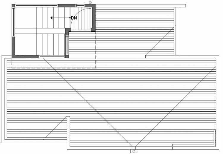 Roof Deck Floor Plan of 2450 NW 64th St in the Ballard Neighborhood of Seattle