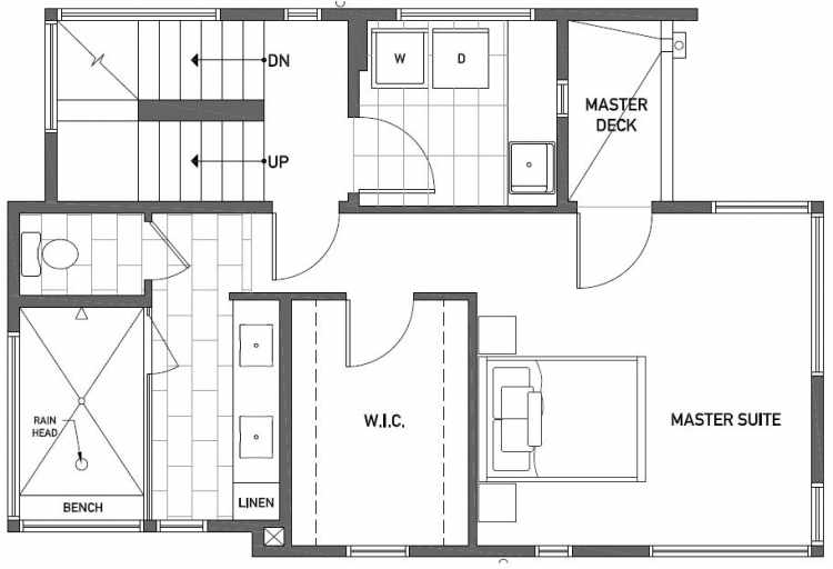 Second Floor Plan of 2450 NW 64th St in the Ballard Neighborhood of Seattle