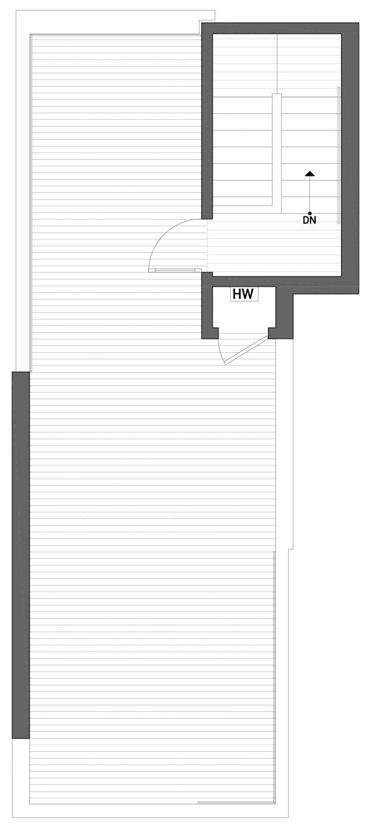 Roof Deck Floor Plan of 2504 Everett Ave E of the Baymont Townhomes