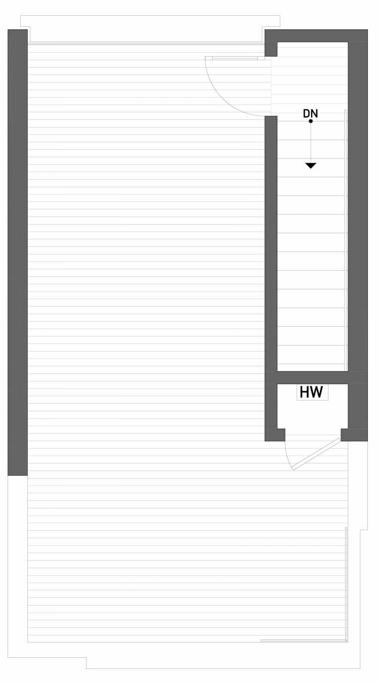 Roof Deck Floor Plan of 2506 Everett Ave E of the Baymont Townhomes