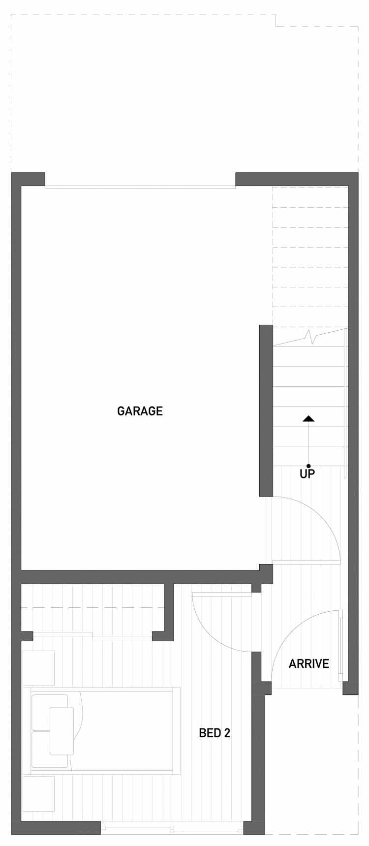 First Floor Plan of 2508 Everett Ave E of the Baymont Townhomes