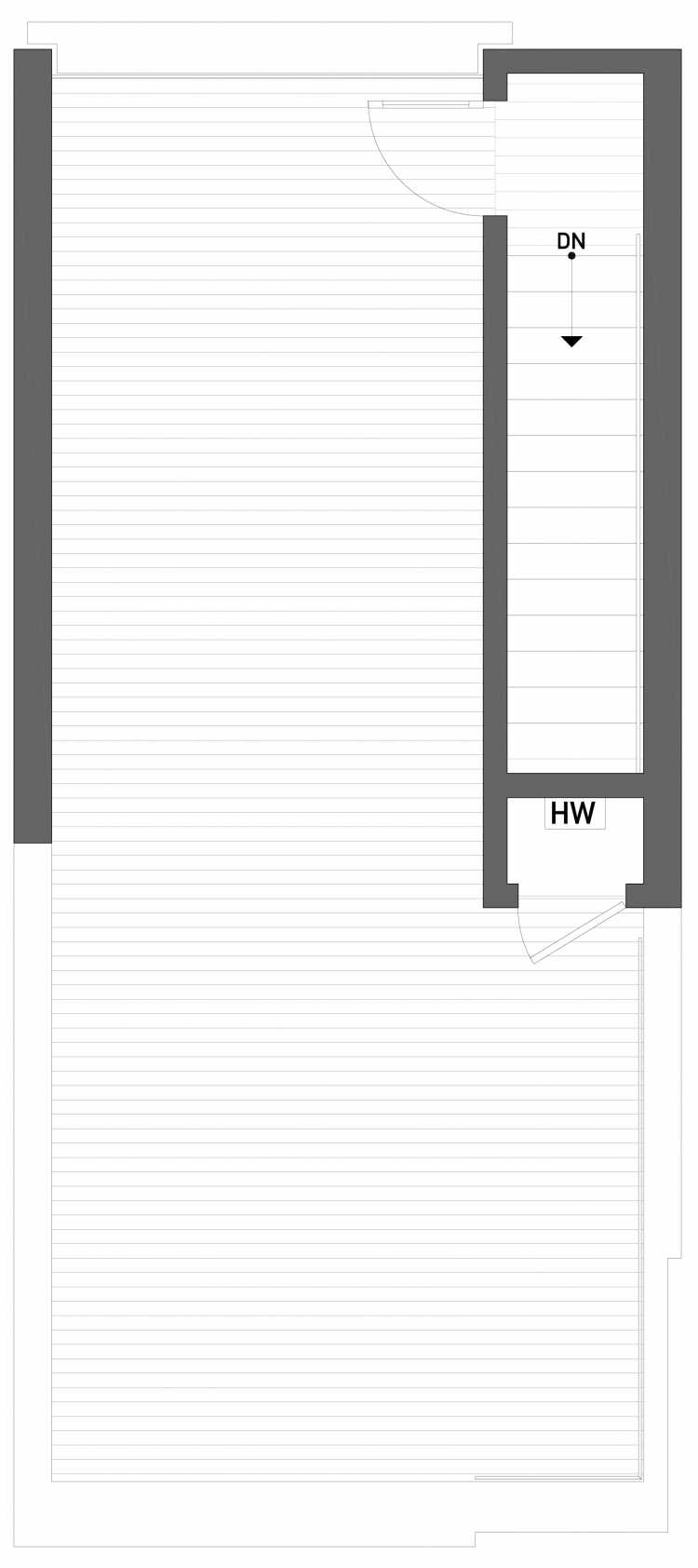 Roof Deck Floor Plan of 2508 Everett Ave E of the Baymont Townhomes