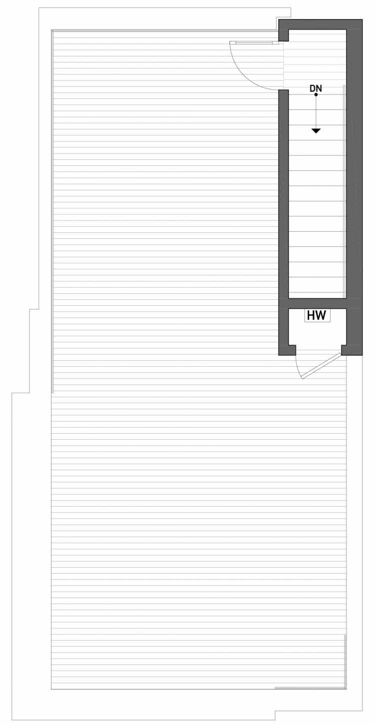 Roof Deck Floor Plan of 2510 Everett Ave E of the Baymont Townhomes
