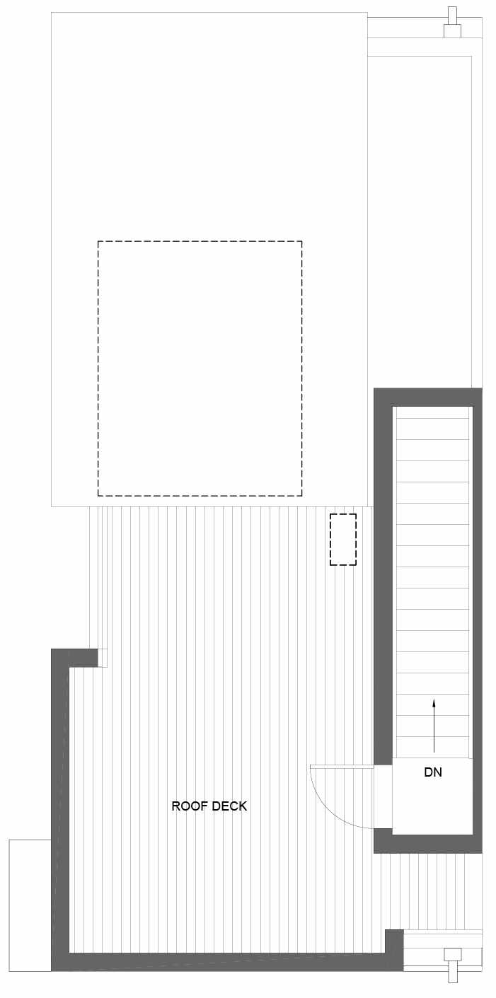 Roof Deck Floor Plan of 3011A 30th Ave W, One of the Lochlan Townhomes by Isola Homes in Magnolia
