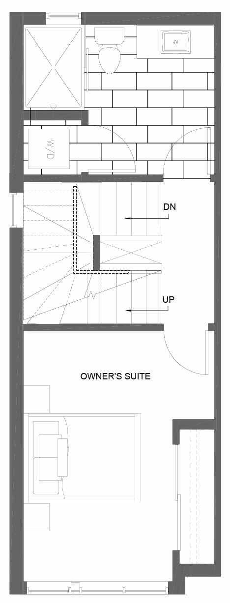 Third Floor Plan of 3015A 30th Ave W, One of the Lochlan Townhomes by Isola Homes in Magnolia