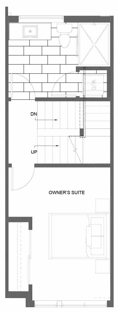 Third Floor Plan of 3015C 30th Ave W, One of the Lochlan Townhomes by Isola Homes in Magnolia