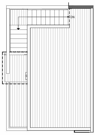 Roof Deck Floor Plan of 321 Malden Ave E, One of the Mika Townhomes in Capitol Hill by Isola Homes