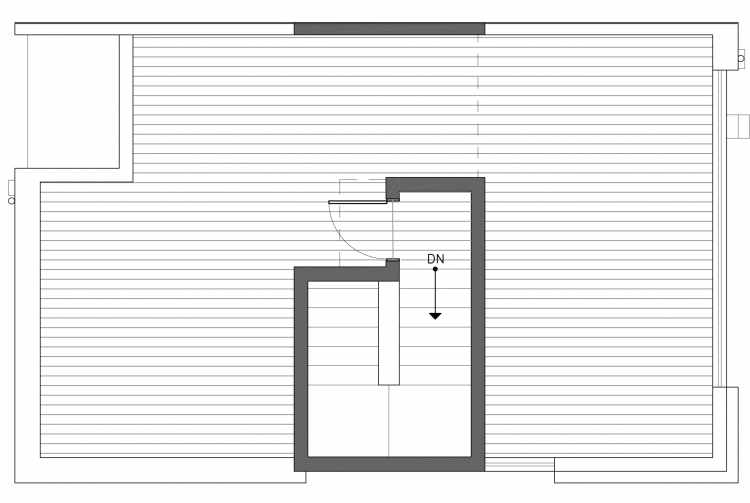 Roof Deck Floor Plan of 3238A 14th Ave W, One of the Harloe Townhomes in North Queen Anne by Isola Homes