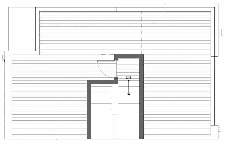 Roof Deck Floor Plan of 3238B 14th Ave W, One of the Harloe Townhomes in North Queen Anne by Isola Homes