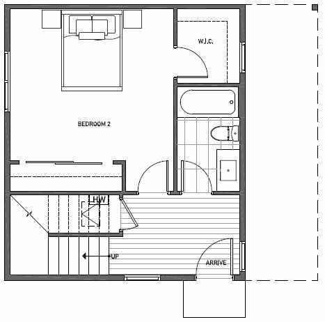 First Floor Plan of 3525 Wallingford Ave N in Lucca Townhomes by Isola Homes