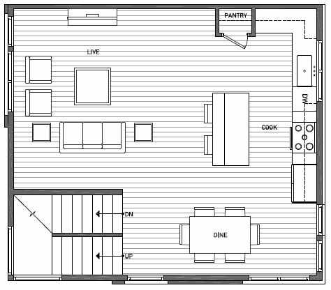 Second Floor Plan of 3525 Wallingford Ave N in Lucca Townhomes by Isola Homes