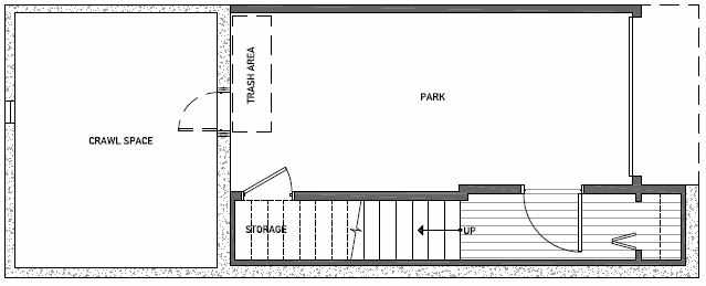 Basement Floor Plan of 3539 Wallingford Ave N in Lucca Townhomes by Isola Homes