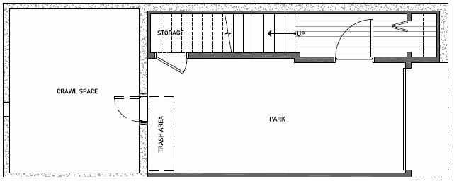 Basement Floor Plan of 3541 Wallingford Ave N in Lucca Townhomes by Isola Homes