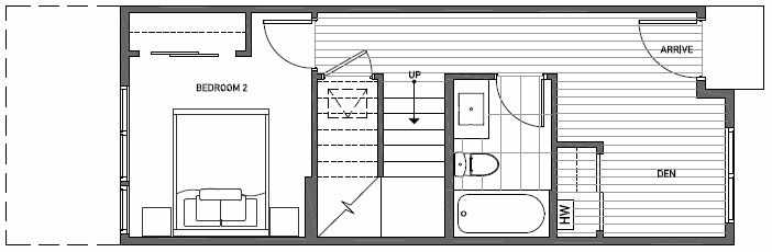 First Floor Plan of 3549 Wallingford Ave N in Lucca Townhomes by Isola Homes