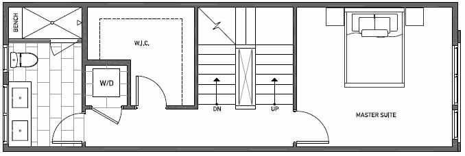 Third Floor Plan of 3551 Wallingford Ave N in Lucca Townhomes by Isola Homes