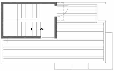 Roof Deck Floor Plan of 3801 23rd Ave W, of the Walden Townhomes, by Isola Homes