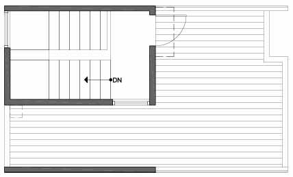 Roof Deck Floor Plan of 3803 23rd Ave W, of the Walden Townhomes, by Isola Homes