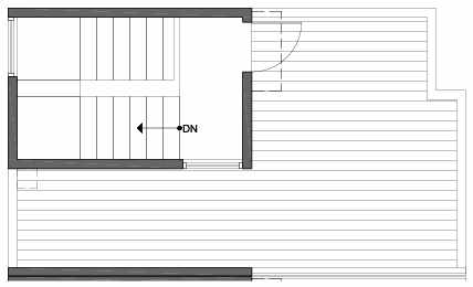 Roof Deck Floor Plan of 3805 23rd Ave W, of the Walden Townhomes, by Isola Homes