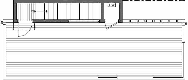 Roof Deck Plan of 408A at Oncore Townhomes in Capitol Hill