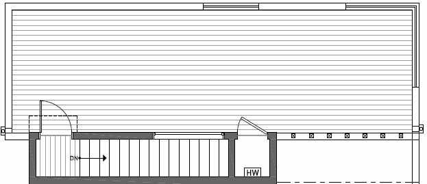 Roof Deck Plan of 408B at Oncore Townhomes in Capitol Hill