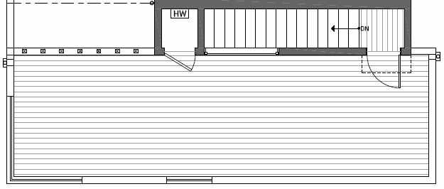 Roof Deck Plan of 410A at Oncore Townhomes in Capitol Hill
