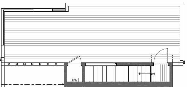 Roof Deck Plan of 410B at Oncore Townhomes in Capitol Hill