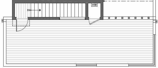 Roof Deck Plan of 412A at Oncore Townhomes in Capitol Hill