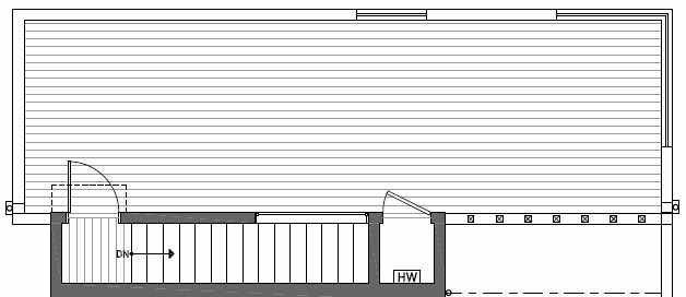 Roof Deck Floor Plan of 412B at Oncore Townhomes in Capitol Hill