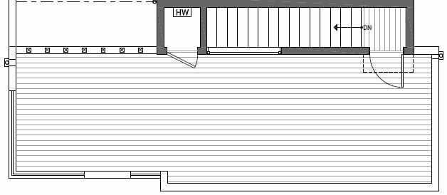 Roof Deck Floor Plan of 414A at Oncore Townhomes in Capitol Hill