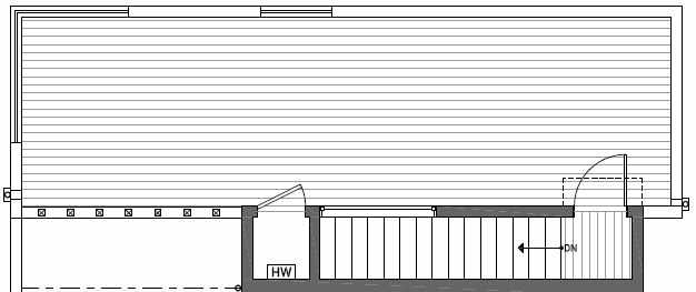 Roof Deck Floor Plan of 414B at Oncore Townhomes in Capitol Hill