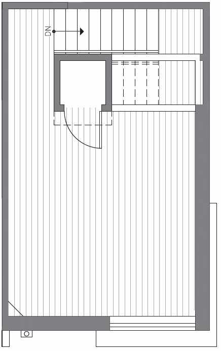 Roof Deck Floor Plan at 418A 10th Ave E of the Core 6.2 Townhomes in Capitol Hill