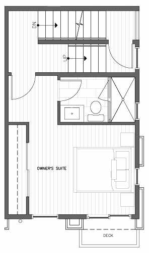 Third Floor Plan at 418A 10th Ave E of the Core 6.2 Townhomes in Capitol Hill