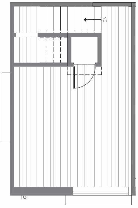 Roof Deck Floor Plan at 418B 10th Ave E of the Core 6.2 Townhomes in Capitol Hill