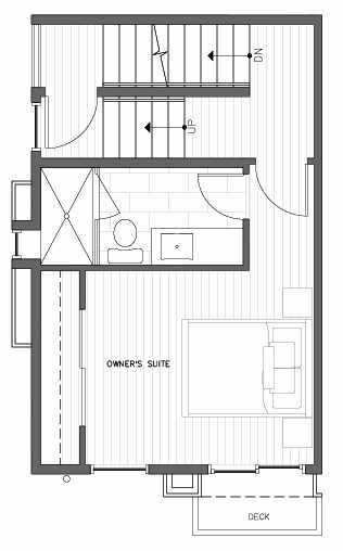 Third Floor Plan at 418B 10th Ave E of the Core 6.2 Townhomes in Capitol Hill