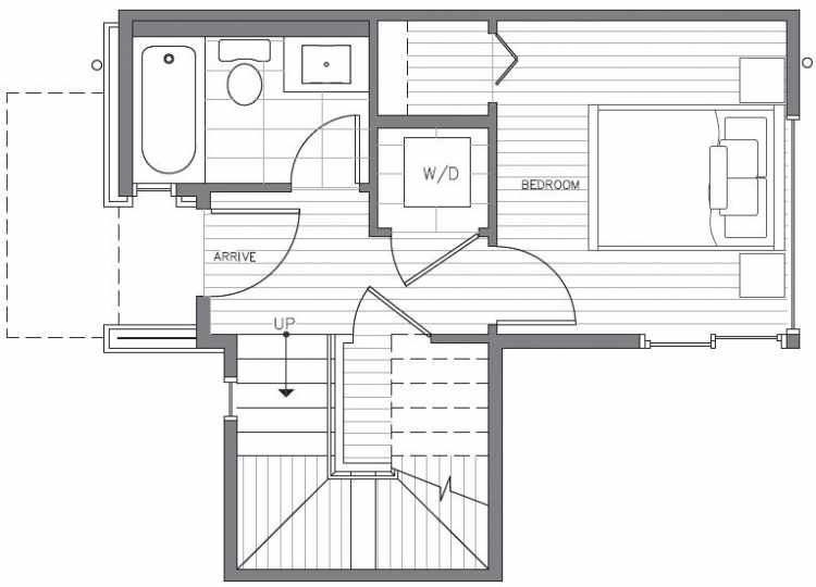 First Floor Plan at 418C 10th Ave E of the Core 6.2 Townhomes in Capitol Hill
