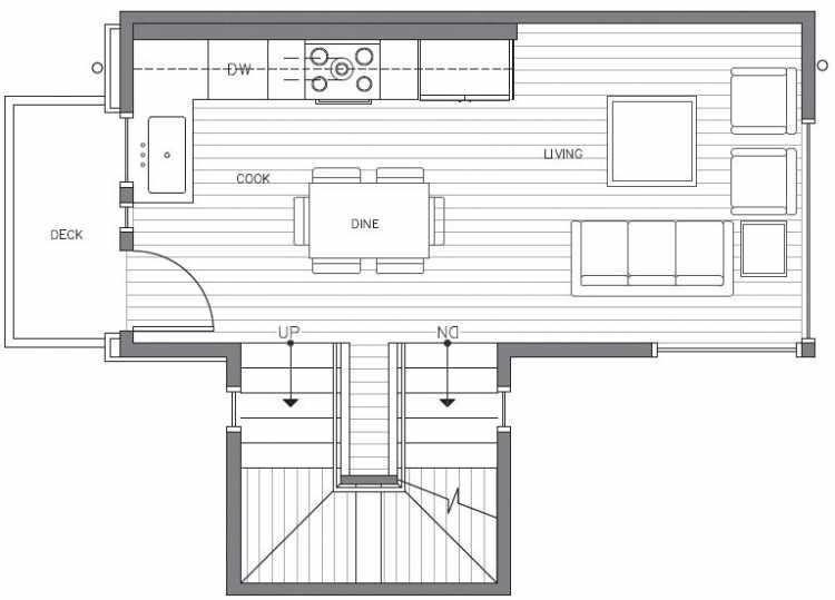 Second Floor Plan at 418C 10th Ave E of the Core 6.2 Townhomes in Capitol Hill