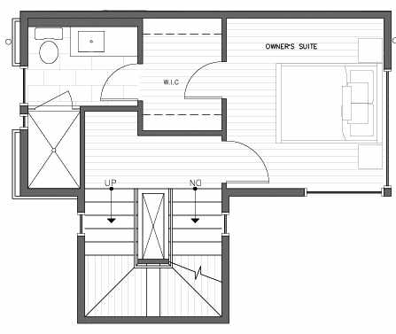 Third Floor Plan at 418C 10th Ave E of the Core 6.2 Townhomes in Capitol Hill